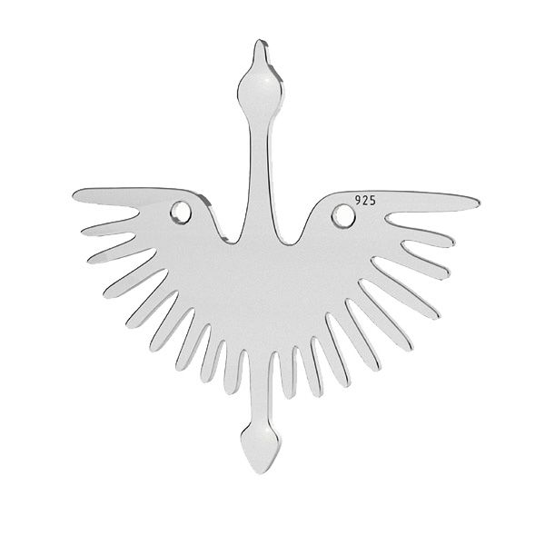 Zawieszka łącznik - żuraw*srebro AG 925*LKM-2824 - 0,50 25x25 mm