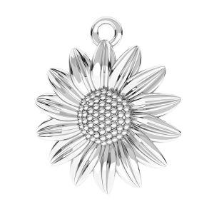 Zawieszka - kwiatek słonecznik*srebro AG 925*ODL-00790 16x18,5 mm