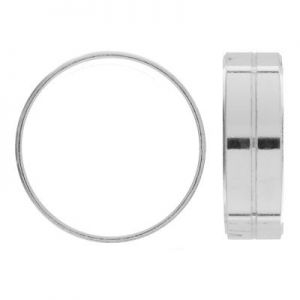 Gładka obrączka z paskiem - szeroka szyna*srebro AG 925*RING 01430 7 mm - L (16,17,18)