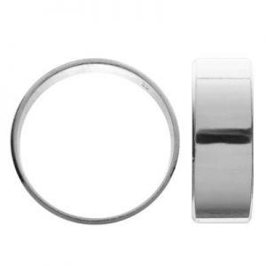 Gładka obrączka - szeroka szyna*srebro AG 925*OB 01854 7 mm
