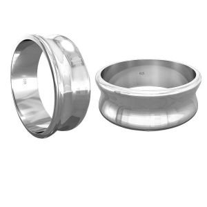 Obrączka do Apoxie - baza*srebro AG 925*RING 011 7 mm - S (10,11,12)