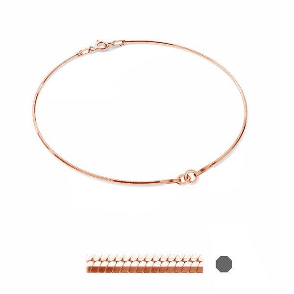 Bransoleta łańcuszkowa typu snake - dwuczęściowa*srebro AG 925*BRACELET 27 (SN 020 DC8L)