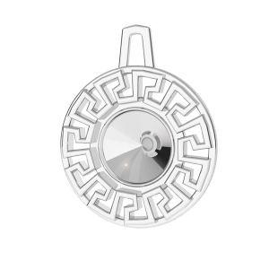 Okrągła zawieszka grecki labirynt - baza do Rivoli*srebro AG 925*ODL-00838 14x17,5 mm (1122 SS 29)