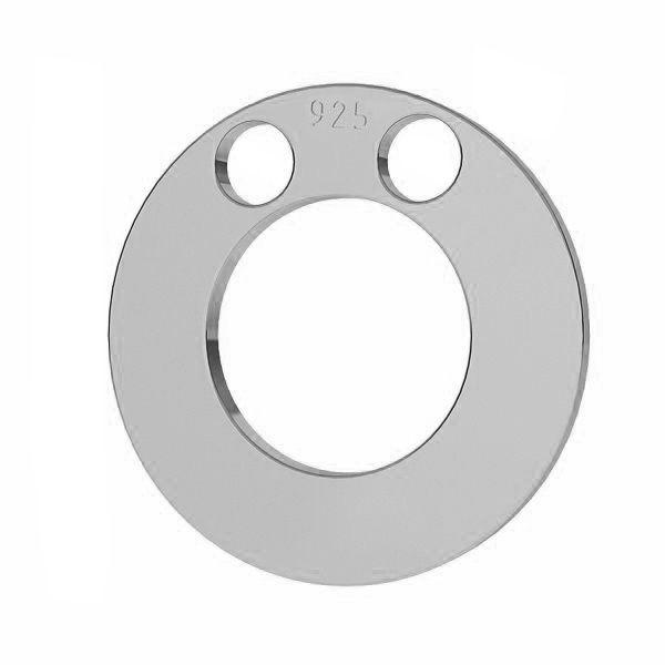 Zawieszka karma - okrągła blaszka do grawerowania*srebro AG 925*LKM-2893 - 0,50 12x12 mm