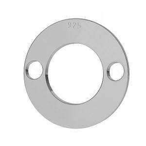 Zawieszka karma - okrągła blaszka do grawerowania*srebro AG 925*LKM-2895 - 0,50 12x12 mm