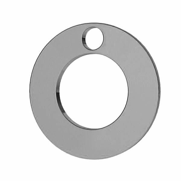 Zawieszka karma - okrągła blaszka do grawerowania*srebro AG 925*LKM-2896 - 0,50 12x12 mm