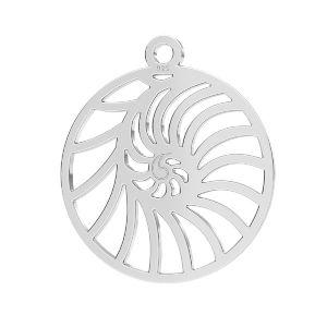 Zawieszka ażurowa - muszelka*srebro AG 925*LKM-2730 - 0,50 18x20,5 mm