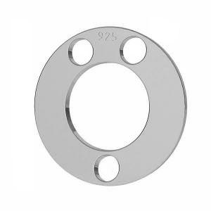 Zawieszka karma - okrągła blaszka do grawerowania*srebro AG 925*LKM-2894 - 0,50 12x12 mm