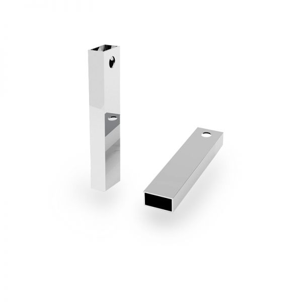 Zawieszka - prostokątna rurka z otworem*srebro AG 925*RURK-004 6,1x25 mm