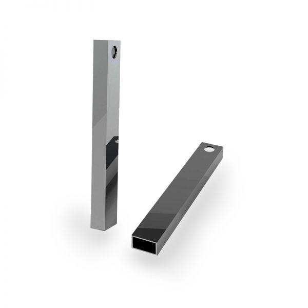 Zawieszka - prostokątna rurka z otworem*srebro AG 925*RURK-006 6,1x35 mm