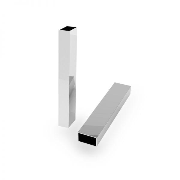Zawieszka - prostokątna rurka*srebro AG 925*RURK-007 8x25 mm