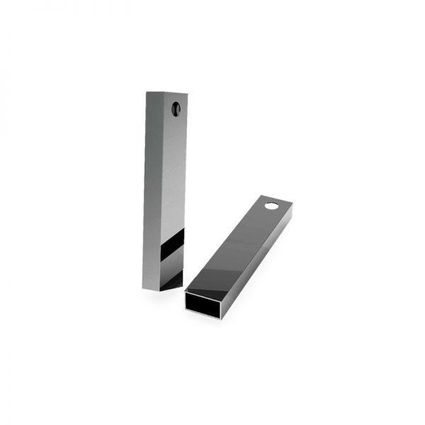 Zawieszka - prostokątna rurka z otworem*srebro AG 925*RURK-008 8x25 mm