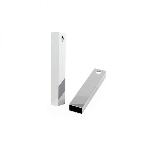 Zawieszka - prostokątna rurka*srebro AG 925*RURK-010 8x35 mm