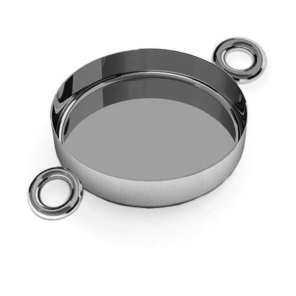 Zawieszka łącznik - miseczka do żywicy*srebro AG 925*CON 2 FMG-R - 2,60 14 mm
