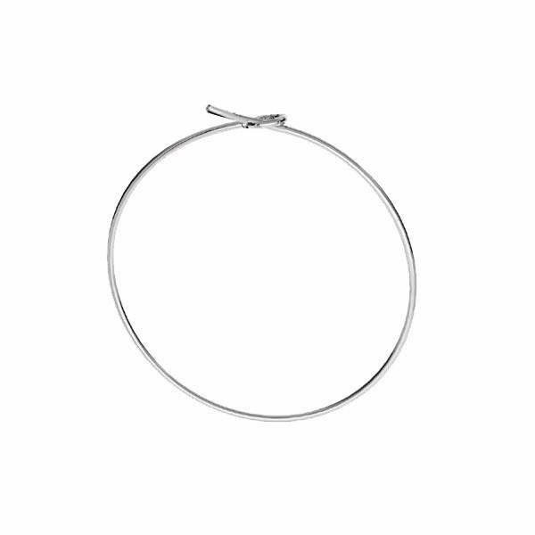 Bigiel zamknięty - okrągły*srebro AG 925*BZ 18 0,8x29,5 mm