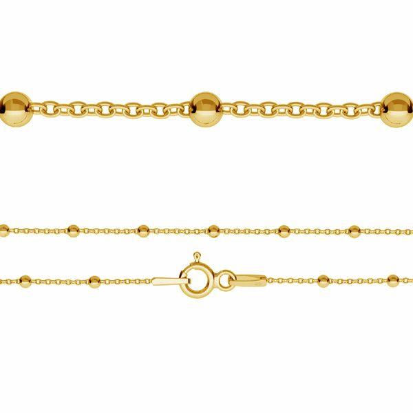 Łańcuszek typu Ankier - kulkowy z zamkiem*srebro AG 925*A 030 PL-2,0 35-60 cm