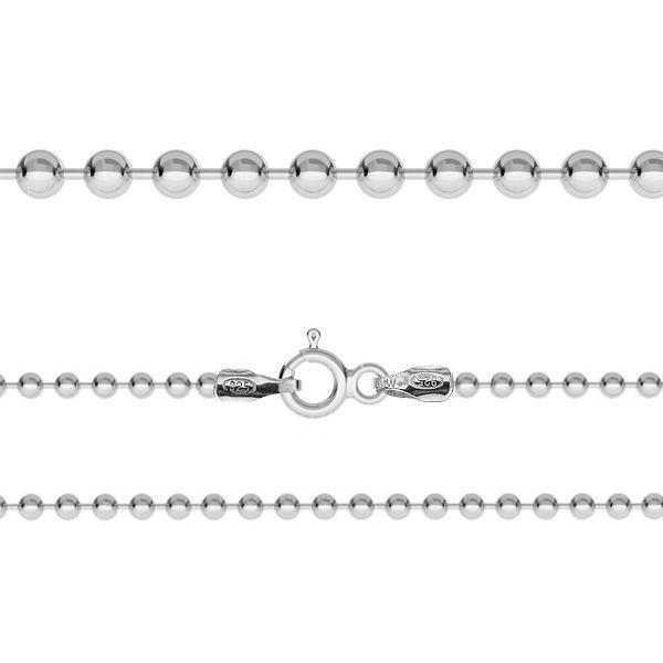 Łańcuszek typu kulkowego z zamkiem*srebro AG 925*CPL 2,2 38-90 cm