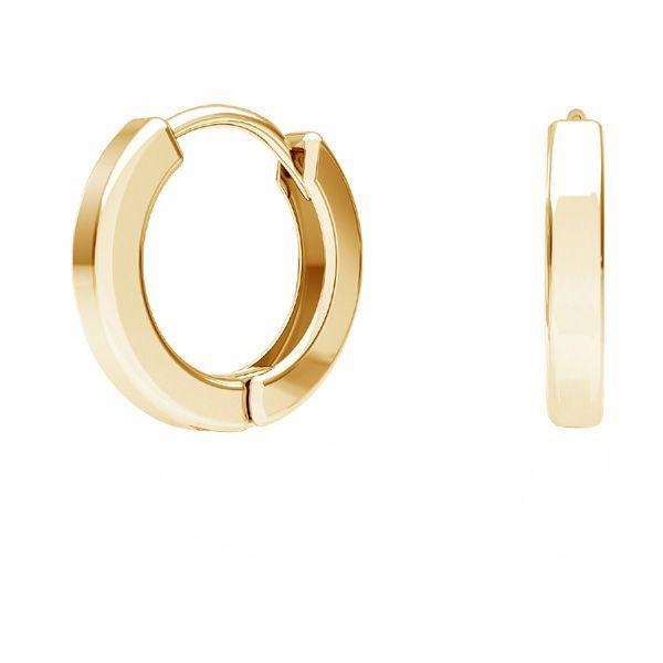 Bigiel angielski - okrągły typu kajdanki*srebro AG 925*BZO 4 ODL-00684 ver.2 11,5x11,5 mm