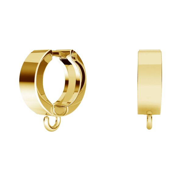 Bigiel angielski - okrągły typu kajdanki do podwieszania*srebro AG 925*ODL-00871 BZO 2 13,1x15 mm