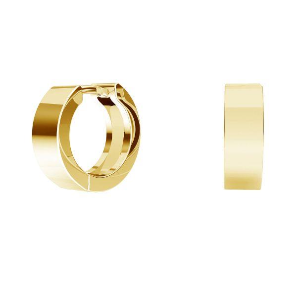 Bigiel angielski - okrągły typu kajdanki*srebro AG 925*ODL-00871 BZO 2 ver.2 13x13,1 mm