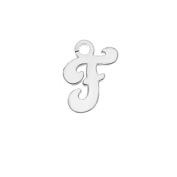 Zawieszka - literka F - prosta czcionka*srebro AG 925*LK-0076 - 0,50 5,1x9,5 mm