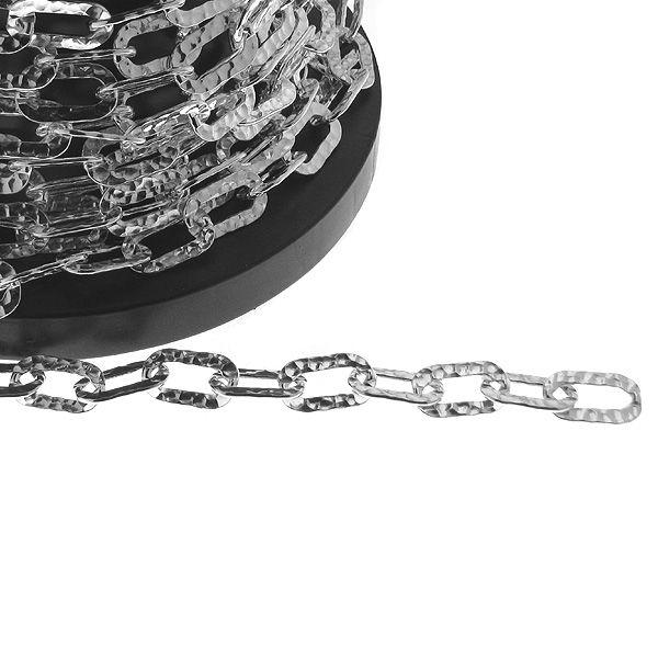 Łańcuszek metraż - typu anker młotkowany*srebro AG 925*A 180H 10x17 mm