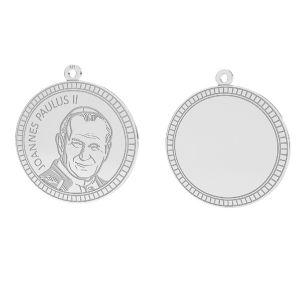 Zawieszka z wizerunkiem Jana Pawła II do grawerowania*srebro AG 925*LKM-2946 - 0,50 25x25,5 mm