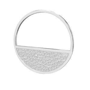 okrągła zawieszka z młotkowana powierzchnią*srebro AG 925*LKM-2745 - 0,50 18x18 mm