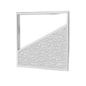 Kwadratowa zawieszka z młotkowaną powierzchnią*srebro AG 925*LKM-2748 - 0,50 17x17 mm