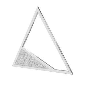 Zawieszka trójkąt z młotkowaną powierzchnią*srebro AG 925*LKM-2746 - 0,50 17,4x20 mm