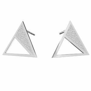 Kolczyki - kwadraty z młotkowaną powierzchnią*srebro AG 925*KLS LKM-2750 - 0,50 11,3x13,1 mm