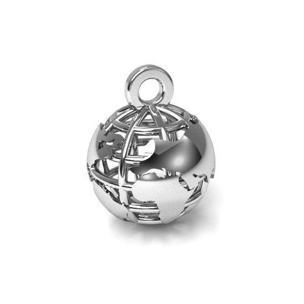 Zawieszka - globus*srebro AG 925*CON 1 E-PENDANT 661 8x10,5 mm