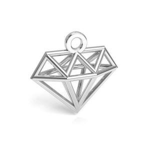 Zawieszka diament origami - księżyc*srebro AG 925*CON 1 E-PENDANT 653 11,9x12,6 mm