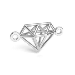 Zawieszka łącznik - diament origami*srebro AG 925*CON 1 E-PENDANT 654 9,55x17,6 mm