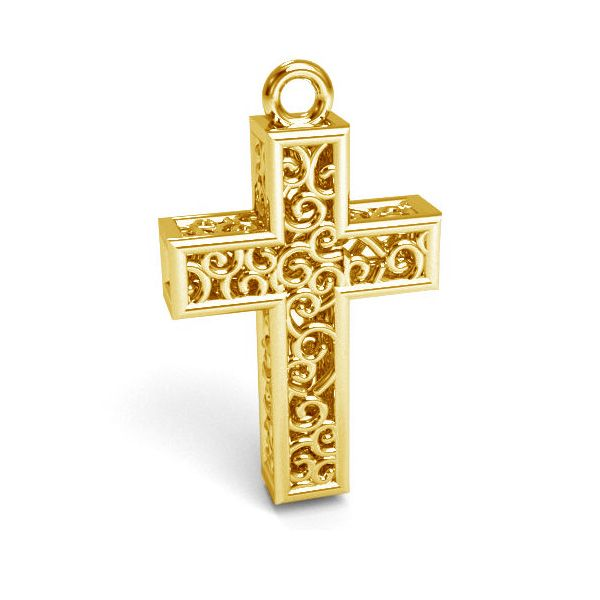 Zawieszka - ażurowy krzyż*srebro AG 925*CON 1 E-PENDANT 657 11,8x19,8 mm