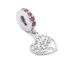 Przekładka ozdobna beads - drzewo życia cyrkoniami*srebro AG 925*BDS-00007 12x24 mm