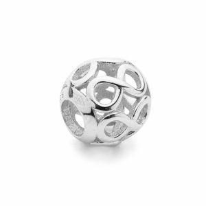 Przekładka ozdobna beads - znak nieskończoności*srebro AG 925*BDS-00010 9,5x10,5 mm