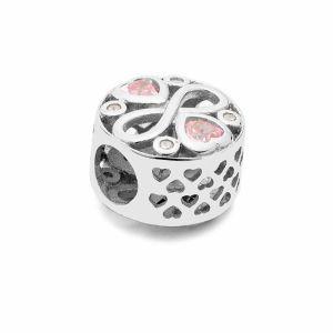 Przekładka ozdobna beads - znak nieskończoności*srebro AG 925*BDS-00011 11x11,5 mm