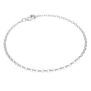 Bransoletka typu Rolo z zamkiem*srebro AG 925*ROLO OVAL 0,35X0,60 17 cm