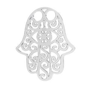 Zawieszka - ażurowa ręka Fatimy, Hamsa*srebro AG 925*LKM-2162 - 0,50 13,8x18,0 mm