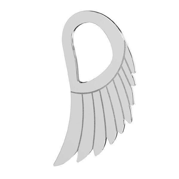 Zawieszka ażurowa - skrzydło anioła*srebro AG 925*LKM-2221 - 0,50 8,8x15 mm