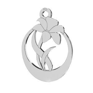 Zawieszka - kwiat*srebro AG 925*LKM-2208 - 0,50 14,1x20 mm