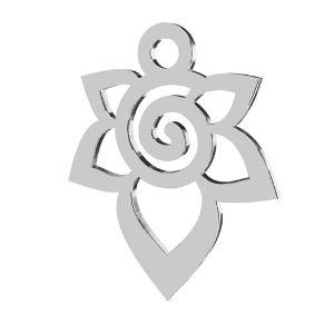 Zawieszka - kwiat*srebro AG 925*LKM-2217 - 0,50 12,6x15,6 mm