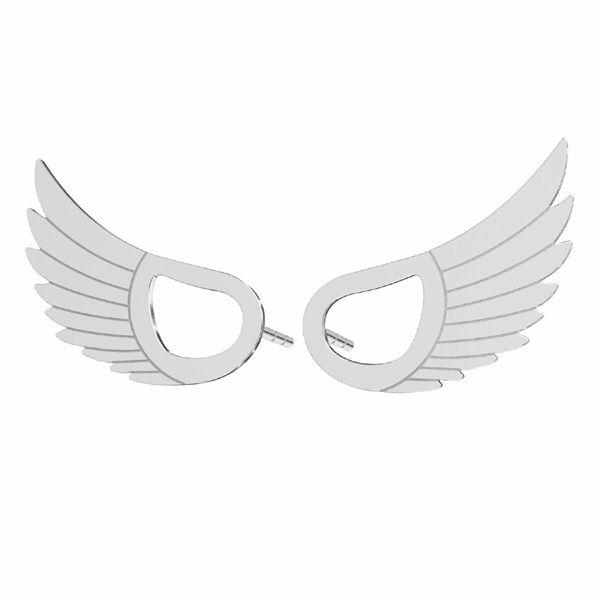 Kolczyk sztyft - skrzydło*srebro AG 925*KLS LKM-2961 - 0,50 8,8x15 mm