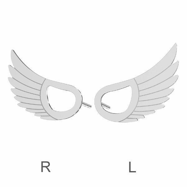 Kolczyk sztyft - skrzydło*srebro AG 925*KLS LKM-2961 - 0,50 8,8x15 mm (L+R)