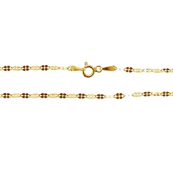 Łańcuszek typu Ankier koniczyna z zamkiem*srebro AG 925*A 040 QDF 2,5 mm 40 cm