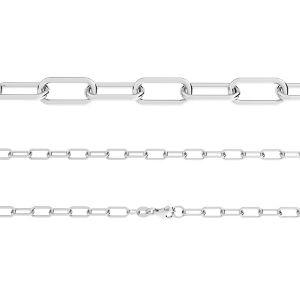 Łańcuszek typu Ankier owalny z zamkiem*srebro AG 925*AFLK 1,00 40 cm
