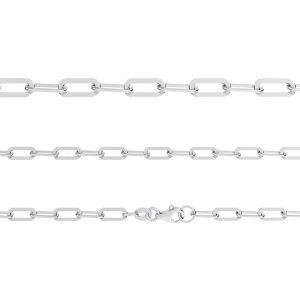 Łańcuszek typu Ankier płaszczony z zamkiem*srebro AG 925*AFL 1,00 40 cm