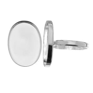 Pierścionek L - miseczka owalna do żywicy*srebro AG 925*RING FMG 18x25 mm (L)