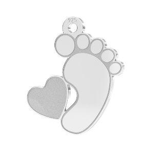 Zawieszka - stópka dziecka baza kryształ serce*srebro AG 925*LKM-2644 - 0,50 13x14,7 mm (2808 mm 6)